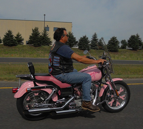 breast cancer motorcycle photo