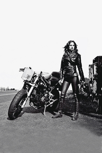 biker chick photo