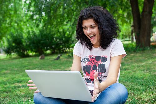 girl laptop photo